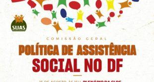 Comissão Geral debate a Política de Assistência Social no DF
